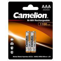 Аккумуляторы Ni-Mh металлогидридные 7372 Camelion NH-AAA1100BP2 ААА 10440 1100 мАч 1.2 В 2шт
