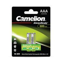 Аккумуляторы Ni-Mh металлогидридные 11605 Camelion Always Ready NH-AAA600ARBP2 ААА 10440 600 мАч 1.2В 2шт
