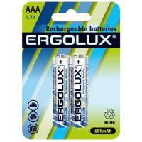 Аккумуляторы Ni-Mh металлогидридные 12977 Ergolux NHAAA600BL2 HR03 AAA 600mAh 1.2 v 2шт