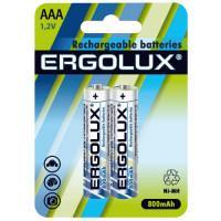 Аккумуляторы Ni-Mh металлогидридные 12978 Ergolux NHAAA800BL2 HR03 AAA 800mAh 1.2 v 2шт