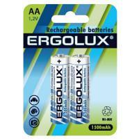 Аккумуляторы Ni-Mh металлогидридные 12975 Ergolux NHAA1500BL2 HR6 AA 1500mAh 1.2 v 2шт