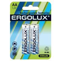 Аккумуляторы Ni-Mh металлогидридные 12976 Ergolux NHAA2200BL2 HR6 AA 2200mAh 1.2 v 2шт