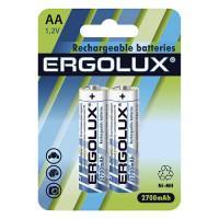 Аккумуляторы Ni-Mh металлогидридные 12445 Ergolux NHAA2700BL2 HR6 AA 2700mAh 1.2 v 2шт