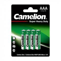 Батарейки Camelion 1668 Super Heavy Duty AAA FR03 солевые 1,5В 4шт