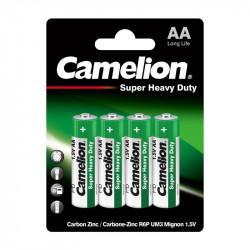 Батарейки Camelion 1669 Super Heavy Duty AA, 14500 солевые 1,5В 4шт