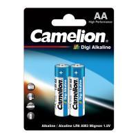 Батарейки Camelion Digi Alkaline 9249 LR6-BP2DG AA LR6 алкалиновые 1,5В 2700мАч 2шт