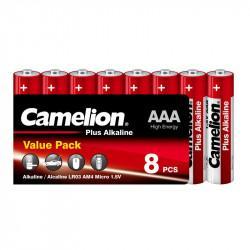 Батарейки Camelion Plus Alkaline 9281 AAA LR03 алкалиновые 1,5В 8шт