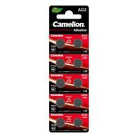 Батарейки алкалиновые 12810 Camelion AG2 LR726 396 1.5В дисковые 7.9х2.6мм 10шт