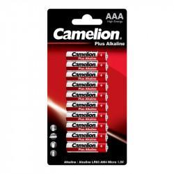 Батарейки Camelion Plus Alkaline 3221 AAA LR03 алкалиновые 1,5В 10шт