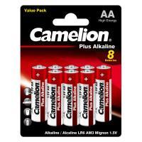 Батарейки Camelion Plus Alkaline 14133 AA LR6 алкалиновые 1,5В 8шт