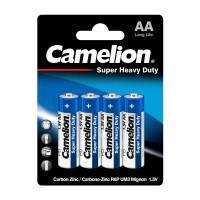 Батарейки Camelion Blue 3215 R6P-BP4B Super Heavy Duty AA R6 солевые 1,5В 960мач 4шт