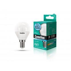 Лампа светодиодная ШАР 13695 Camelion LED12-G45/845/E14 220В 12Вт E14 4500K нейтральный белый