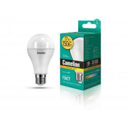 Лампа светодиодная ГРУША 12308 Camelion LED17-A65/830/E27 220В 17Вт E27 3000K теплый белый