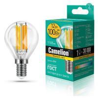 Лампа светодиодная ШАР филаментная 13712 Camelion LED12-G45-FL/830/E14 220В 12Вт Е14 3000К теплый белый