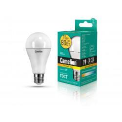 Лампа светодиодная ГРУША 12035 Camelion LED11-A60/830/E27 220В 11Вт E27 3000K теплый белый