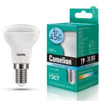 Лампа светодиодная 13354 Camelion LED4-R39/845/E14 220В 4Вт E14 4500K нейтральный белый
