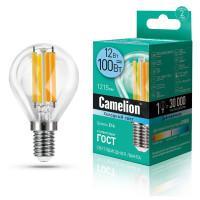 Лампа светодиодная ШАР филаментная 13713 Camelion LED12-G45-FL/845/E14 220В 12Вт Е14 4500К нейтральный белый