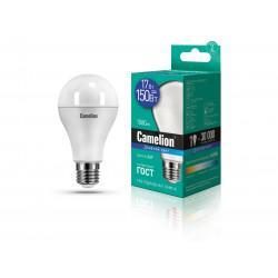 Лампа светодиодная ГРУША 12653 Camelion LED17-A65/865/E27 220В 17Вт E27 6500K холодный белый