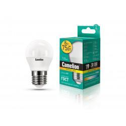 Лампа светодиодная ШАР 12392 Camelion LED8-G45/830/E27 220В 8Вт E27 3000K теплый белый