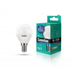 Лампа светодиодная ШАР 13697 Camelion LED12-G45/865/E14 220В 12Вт E14 6500K холодный белый