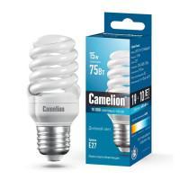Лампа энергосберегающая люминесцентная 10607 Camelion 220В 15Вт (75Вт) Е27 6400К холодный белый
