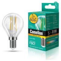 Лампа светодиодная ШАР филаментная 13456 Camelion LED7-G45-FL/830/E14 220В 7Вт Е14 3000К теплый белый