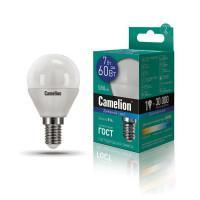 Лампа светодиодная ШАР 12646 Camelion LED7-G45/865/E14 220В 7Вт E14 6500K холодный белый
