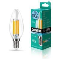 Лампа светодиодная СВЕЧА филаментная 13709 Camelion LED12-C35-FL/845/E14 220В 12Вт Е14 4500К нейтральный белый