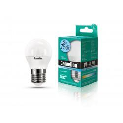 Лампа светодиодная ШАР 12394 Camelion LED8-G45/845/E27 220В 8Вт E27 4500K нейтральный белый