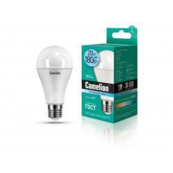 Лампа светодиодная ГРУША 13165 Camelion LED20-A65/845/E27 220В 20Вт E27 4500K нейтральный белый