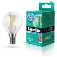 Лампа светодиодная ШАР филаментная 13458 Camelion LED7-G45-FL/845/E14 220В 7Вт Е14 4500К нейтральный белый