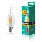 Лампа светодиодная СВЕЧА НА ВЕТРУ филаментная 13710 Camelion LED12-CW35-FL/830/E14 220В 12Вт Е14 3000К теплый белый