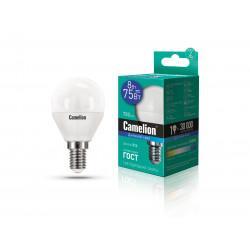 Лампа светодиодная ШАР 13371 Camelion LED8-G45/865/E14 220В 8Вт E14 6500K холодный белый