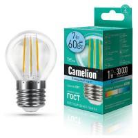 Лампа светодиодная ШАР филаментная 13459 Camelion LED7-G45-FL/845/E27 220В 7Вт Е27 4500К нейтральный белый