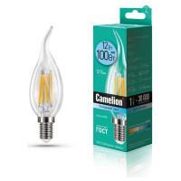 Лампа светодиодная СВЕЧА НА ВЕТРУ филаментная 13711 Camelion LED12-CW35-FL/845/E14 220В 12Вт Е14 4500К нейтральный белый