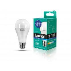 Лампа светодиодная ГРУША 12652 Camelion LED13-A60/865/E27 220В 13Вт E27 6500K холодный белый