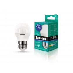 Лампа светодиодная ШАР 13373 Camelion LED8-G45/865/E27 220В 8Вт E27 6500K холодный белый