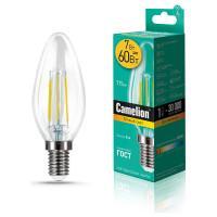 Лампа светодиодная СВЕЧА филаментная 13452 Camelion LED7-C35-FL/830/E14 220В 7Вт Е14 3000К теплый белый