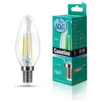 Лампа светодиодная СВЕЧА филаментная 13453 Camelion LED7-C35-FL/845/E14 220В 7Вт Е14 4500К нейтральный белый