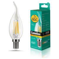 Лампа светодиодная СВЕЧА НА ВЕТРУ филаментная 13454 Camelion LED7-CW35-FL/830/E14 220В 7Вт Е14 3000К теплый белый