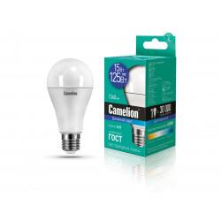 Лампа светодиодная ГРУША 12713 Camelion LED15-A60/865/E27 220В 15Вт E27 6500K холодный белый
