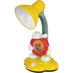 Детская гибкая настольная лампа 12621 Camelion Smart KD-388 C07 Будильник 220В 40Вт Е27