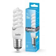 Лампа энергосберегающая люминесцентная Camelion 220В 11Вт (55Вт) Е27 4200К нейтральный белый арт.10583
