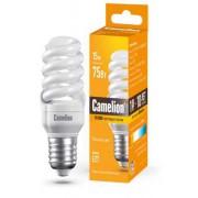 Лампа энергосберегающая люминесцентная Camelion 220В 15Вт (75Вт) Е27 2700К теплый белый арт.10596