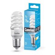 Лампа энергосберегающая люминесцентная Camelion 220В 15Вт (75Вт) Е27 4200К нейтральный белый арт.10522