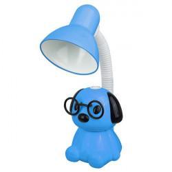 Детская гибкая настольная лампа 14009 Camelion Smart KD-396 C06 Щенок в очках 220В 40Вт Е27