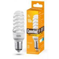Лампа энергосберегающая люминесцентная Camelion 220В 20Вт (100Вт) Е27 2700К теплый белый арт.10598