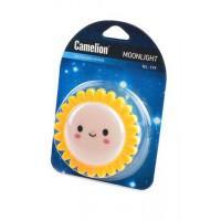 Детский светодиодный ночник в розетку с выключателем Camelion NL-179 СОЛНЫШКО 220В 0.5Вт арт.12535