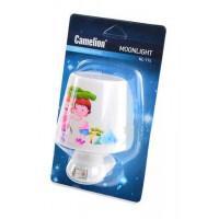 Детский светодиодный ночник в розетку с выключателем Camelion NL-174 ЛАМПА 220В 0.5Вт арт.12530