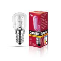 Лампа накаливания миниатюрная прозрачная Camelion 15/P/CL/E14 220В 15Вт Е14 миньон 1шт арт.12116